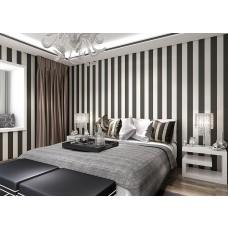 Papel de Parede Lavável -  Preto e Branco - Zebra - Rolo com 10m x 53cm - LMS-PPY-1005