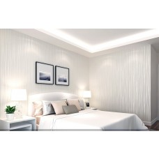 Papel de Parede NÃO Lavável - Branco - Lindo desenho - Rolo com 10m x 53cm - LMS-PPY-YS05-Branco (6310)