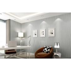 Papel de Parede Lavável - Cinza - Lindo desenho - Rolo com 10m x 53cm - LMS-PPY-YS05-Cinza (6313)