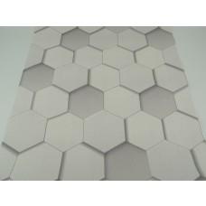 Papel de Parede Lavável - Cinza com detalhes - Rolo com 10m x 53cm - LMS-PPY-8291