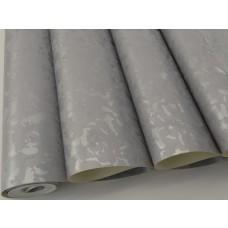 Papel de Parede Lavável Cinza com detalhes em Prata - Rolo com 10m x 53cm - LMS-PPD-761107
