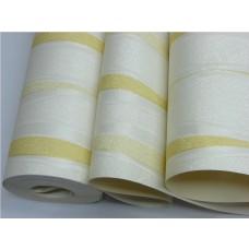 Papel de Parede Lavável - Creme - Detalhes Amarelos - Lindo desenho - Rolo com 10m x 53cm - LMS-PPY-YWJ01-1