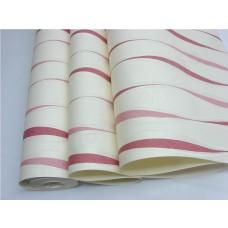 Papel de Parede Lavável - Lindo desenho - Rolo com 10m x 53cm - LMS-PPY-YWJ01-2 - Creme - Detalhes Vermelho