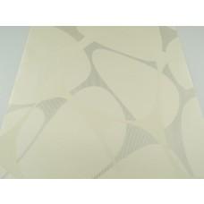 Papel de Parede Lavável Creme com detalhes em Cinza - Rolo com 10m x 53cm - LMS-PPY-88188 -