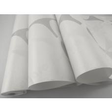Papel de Parede - Branco Gelo com Arabescos Cinza - Rolo com 10m x 53cm - LMS-PPY-8121