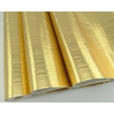 Papel de Parede Lavável Dourado Ouro - Rolo com 10m x 53cm - LMS-PPY-18162