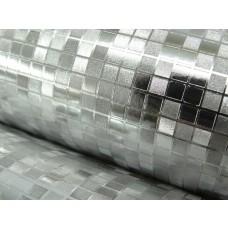 Papel de Parede Lavável - Cromado - Rolo com 10m x 53cm - LMS-PPY-160402
