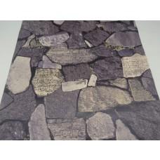 Papel de Parede Lavável -Cinza com detalhes - Rolo com 10m x 53cm  - LMS-PPD-959071