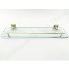Porta Shampoo em Metal Dourado com Base de Vidro - Acabamento Quadrado - LMS-AB8909G