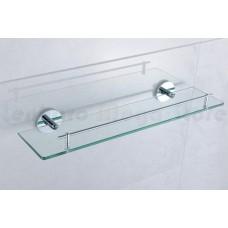 Porta Shampoo em Metal Cromado com Base de Vidro - Acabamento Redondo - LMS-AB9509