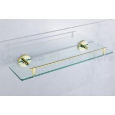 Porta Shampoo em Metal Dourado com Base de Vidro - Acabamento Redondo - LMS-AB9509G