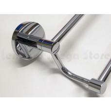 Porta Toalha Longo Duplo / Toalheiro em Metal Cromado - Acabamento Redondo - LMS-AB9548