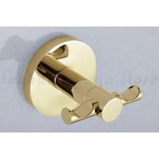 Porta Toalha Gancho / Toalheiro em Metal Dourado - Acabamento Redondo - LMS-AB9504G