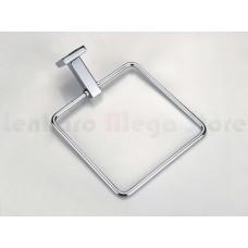 Porta Toalha / Toalheiro em Metal Cromado - Acabamento Quadrado - LMS-AB8902C