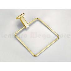 Porta Toalha / Toalheiro em Metal Dourado - Acabamento Quadrado - LMS-AB8902G