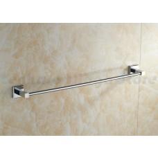 Porta Toalha Longo / Toalheiro em Metal Cromado - Acabamento Quadrado - LMS-AB8924