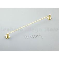 Porta Toalha Longo / Toalheiro em Metal Dourado - Acabamento Quadrado - LMS-AB8924G
