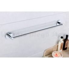 Porta Toalha Longo / Toalheiro em Metal Cromado - Acabamento Redondo - LMS-AB9524C