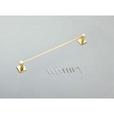 Porta Toalha de Rosto / Toalheiro em Metal Dourado - Acabamento Quadrado - LMS-AB8924-40G