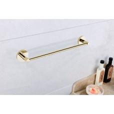 Porta Toalha de Rosto / Toalheiro em Metal Dourado - Acabamento Redondo - LMS-AB9524-40G