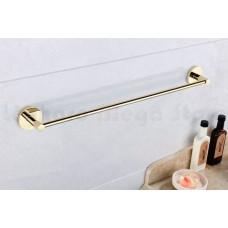 Porta Toalha Longo / Toalheiro em Metal Dourado - Acabamento Redondo - LMS-AB9524G