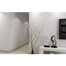 Papel de Parede - Branco Texturizado - Rolo com 10m x 53cm - LMS-PPY-YW91-7072