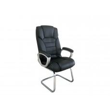 Cadeira Presidente almofadada para escritório PRETA com Base Fixa - LMS-BY-8-670-F