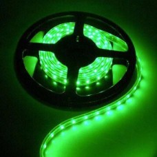 Fita LED Verde SMD 5050 com fundo Preto - 60 Leds por metro - IP65 - A prova dágua - 5 metros