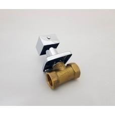 Registro de Metal / Registro de Pressão com Acabamento Cromado - Quadrado - LMS-BM311-Q