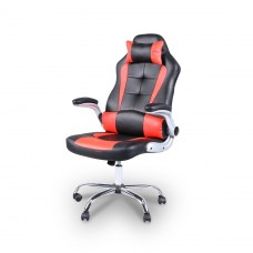 Cadeira Gamer Giratória - Preta e Vermelha - LMS-YO-RC-718