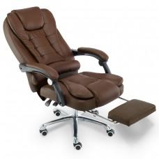Cadeira para Escritório Giratória com apoio para os pés - Marrom - LMS-YO-RC-809-9-Marrom