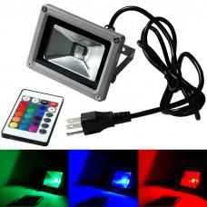 Refletor LED RGB 20W - Com Controle Remoto de 16 Cores - Bivolt - A Prova de Água - LMS-RFLRGB16-20W
