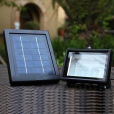 Luminária / Refletor Solar com 30 Leds - Resistente a água - Branco Frio - LMS-RS30L