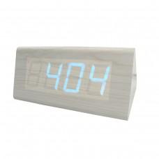 Relógio, Despertador e Sensor de Temperatura em MDF com Led Azul e Corpo Branco - LMS-R1290AB