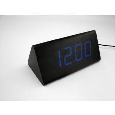Relógio, Despertador e Sensor de Temperatura em MDF com Led Azul e Corpo Preto - LMS-R1290AP