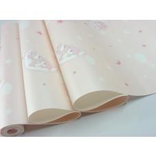 Papel de Parede - Rosa com Desenhos Infantis - Rolo com 10m x 53cm - LMS-PPY-YWC3-3-ROSA (ST26093)