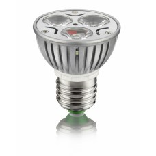 Spot E27 com 3 super LED - 3 Watts - bivolt - Branco Frio - LMS-SPT3LE27