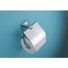Suporte para Papel Higiênico / Papeleira em Metal Cromado - Acabamento Quadrado - LMS-AB8908