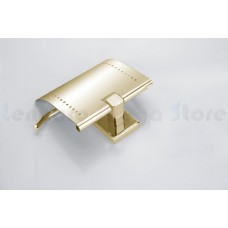 Suporte para Papel Higiênico / Papeleira em Metal Dourado - Acabamento Quadrado - LMS-AB8908G