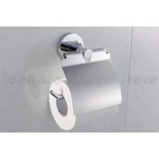 Porta Papel Higiênico / Papeleira em Metal Cromado - Acabamento Redondo - LMS-AB9508C