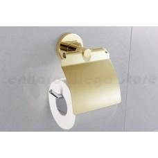 Suporte para Papel Higiênico / Papeleira em Metal Dourado - Acabamento Redondo - LMS-AB9508G
