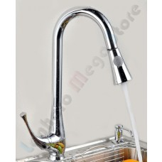 Torneira para Cozinha com spray extensível em até 70 cm - Monocomando com Misturador - LMS-8117
