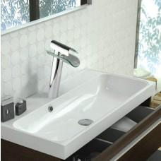 Torneira para Banheiro com Cascata Longa de Vidro para cuba elevada, Monocomando com Misturador - LMS-1217