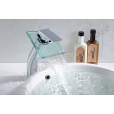 Torneira para Banheiro com Cascata de Vidro, Monocomando com Misturador para cuba alta - LMS-1208-1
