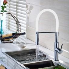 Torneira Gourmet para Cozinha com giro de 360 graus e Spray Móvel - LMS-6401W - Acabamento Branco