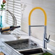 Torneira Gourmet para Cozinha com giro de 360 graus e Spray Móvel - LMS-6401O - Acabamento Laranja