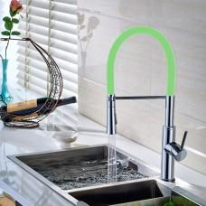 Torneira Gourmet para Cozinha com giro de 360 graus e Spray Móvel - LMS-6401G - Acabamento Verde