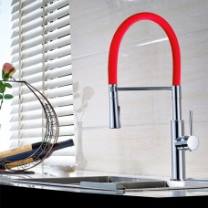 Torneira Gourmet para Cozinha com giro de 360 graus e Spray Móvel - LMS-6401R - Acabamento Vermelho