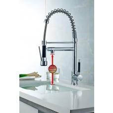 Torneira Gourmet com spray e torneira individual, Monocomando com Misturador - 59cm de Altura - LMS-2087-2.0