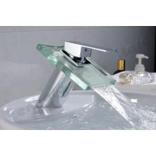 Torneira para Banheiro com Cascata de Vidro, Monocomando com Misturador - LMS-1207-1